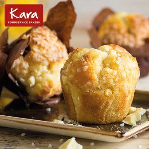 Kara Filled Lemon & White Chocolate Tulip Muffins 24x115g