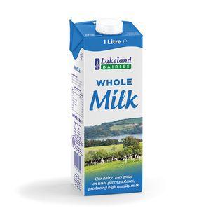 Lakeland UHT Whole Milk 12x1LT