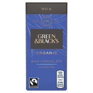 Green & Blacks Organic Milk Chocolate-30x35g