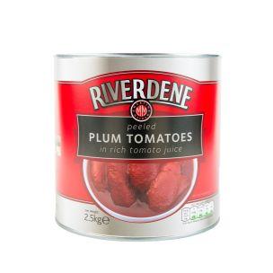 Riverdene Peeled Plum Tomatoes-6x2.55kg
