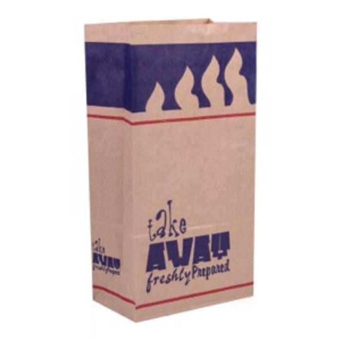 4Flame R12 Brown Large Kraft SOS Bags (7x10.5x13.5)-1x250