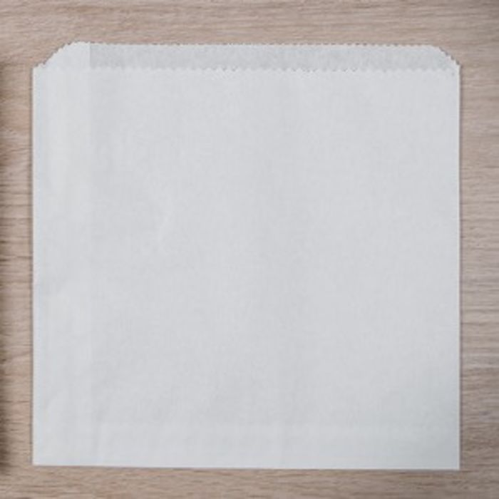 """White Greaseproof Bags 8.5""""x8.5"""" 1x1000"""