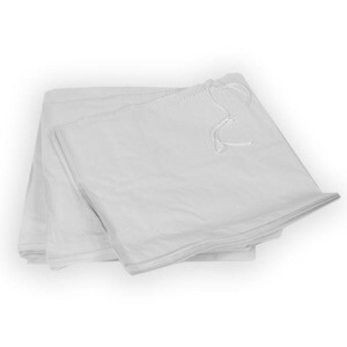 """White Kraft Take Away Bags-(10""""x10"""" strung)-1x1000"""