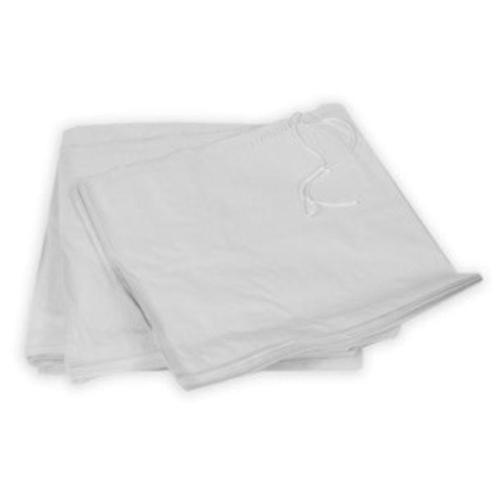 """White Kraft Take Away Bags-(5""""x5"""" strung)-1x1000"""