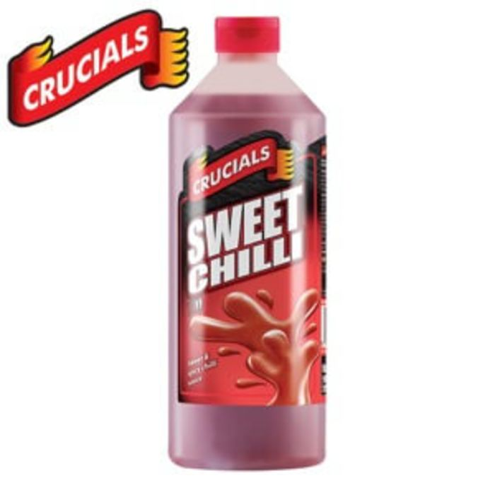 Buy Crucials Sweet Chilli Sauce Bottle 6x1l Order Online From Jj Foodservice