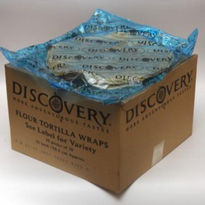 "Discovery 12"" Tomato Tortilla Wrap-1x100"