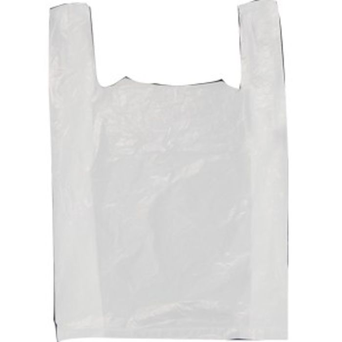 Faulkners Large White Carrier Bags-1x125