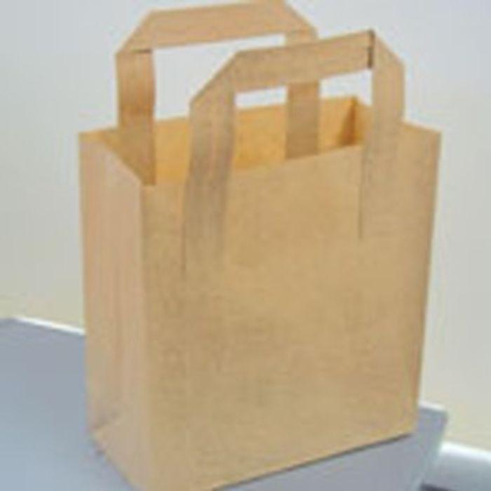 Heritage Medium Brown Carrier Bags-1x125