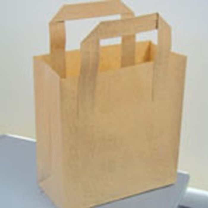 Small Brown Carrier Bags-1x250