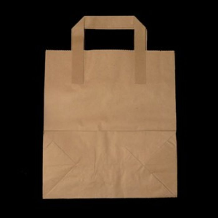 Small Brown Paper Carrier Bags-1x500