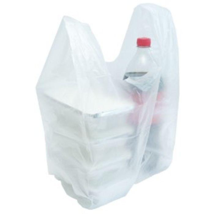 Volvox Medium HDPE Vest Clear Plastic Carrier Bags (275x465x495)– 1x2000