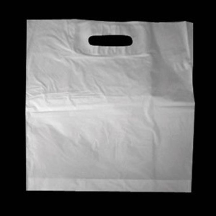 White Patch Handle Carrier Bags (12x12+3)-1x1000