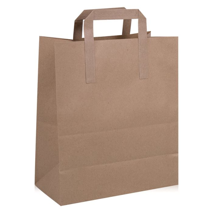 Jumbo Brown Paper Carrier Bags (320x170x350mm)-1x100