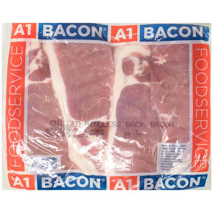 A1 Rindless Thin Cut Back Bacon-1x2.27kg