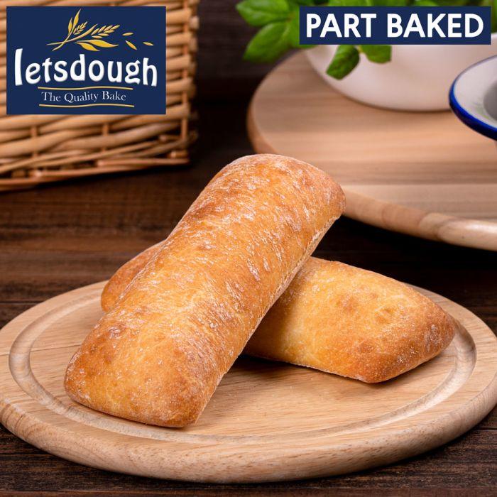 Letsdough Part Baked Ciabatta-30x125g