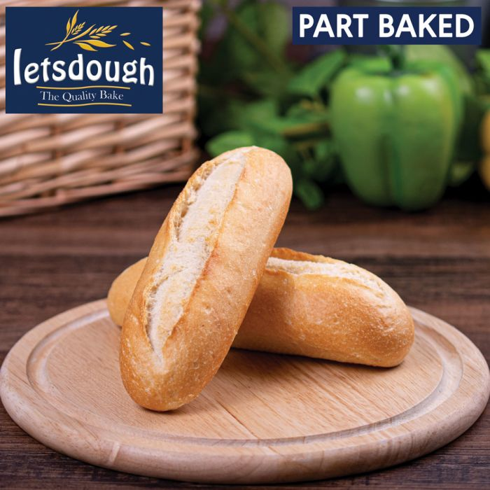 Letsdough Part Baked Petit Pain Sandwich (17cm)-45x75g