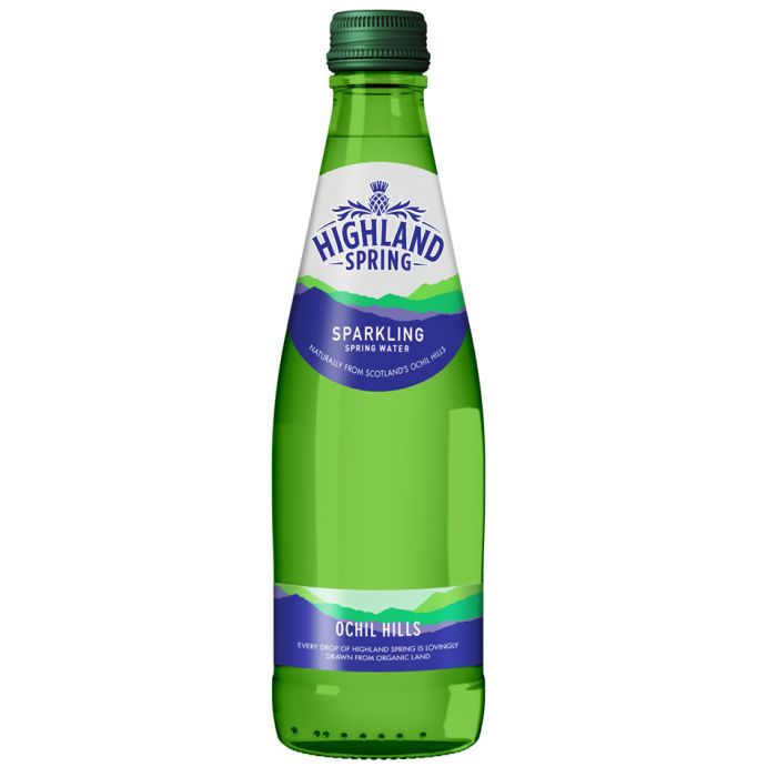 Buy Highland Spring Sparkling Water (Glass)-24x330ml