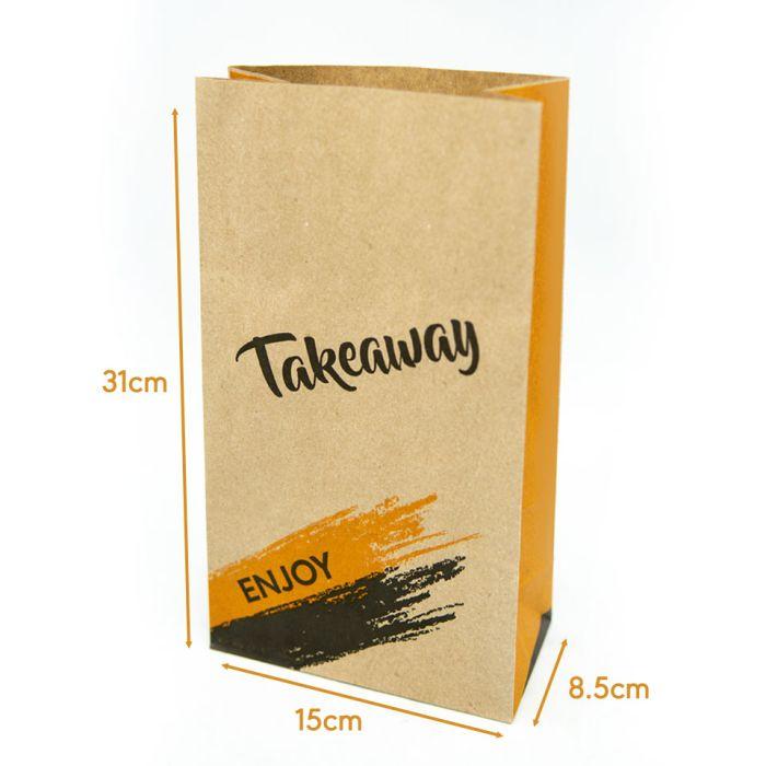 "Enjoy Range R8 Brown Medium Kraft SOS Bags (6""x9.5""x12"")-1x250"