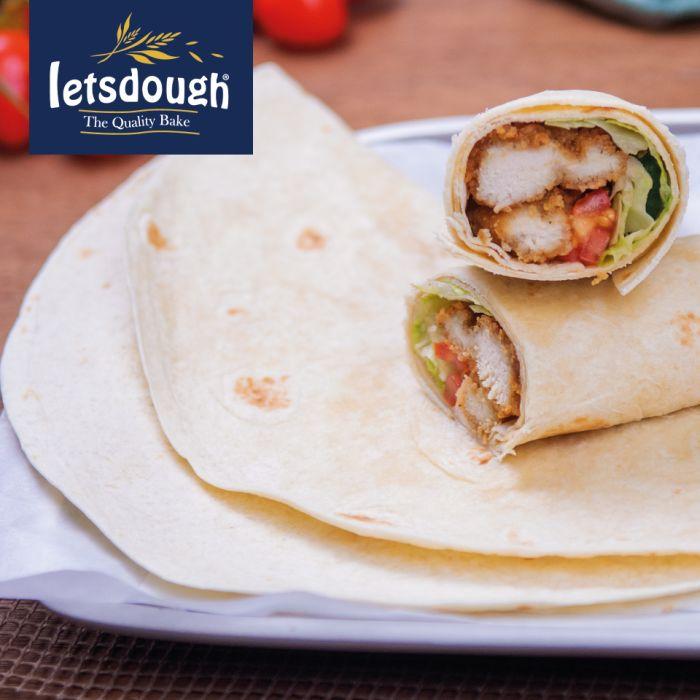 """Letsdough 12"""" Flour Tortilla Wraps-4x18"""