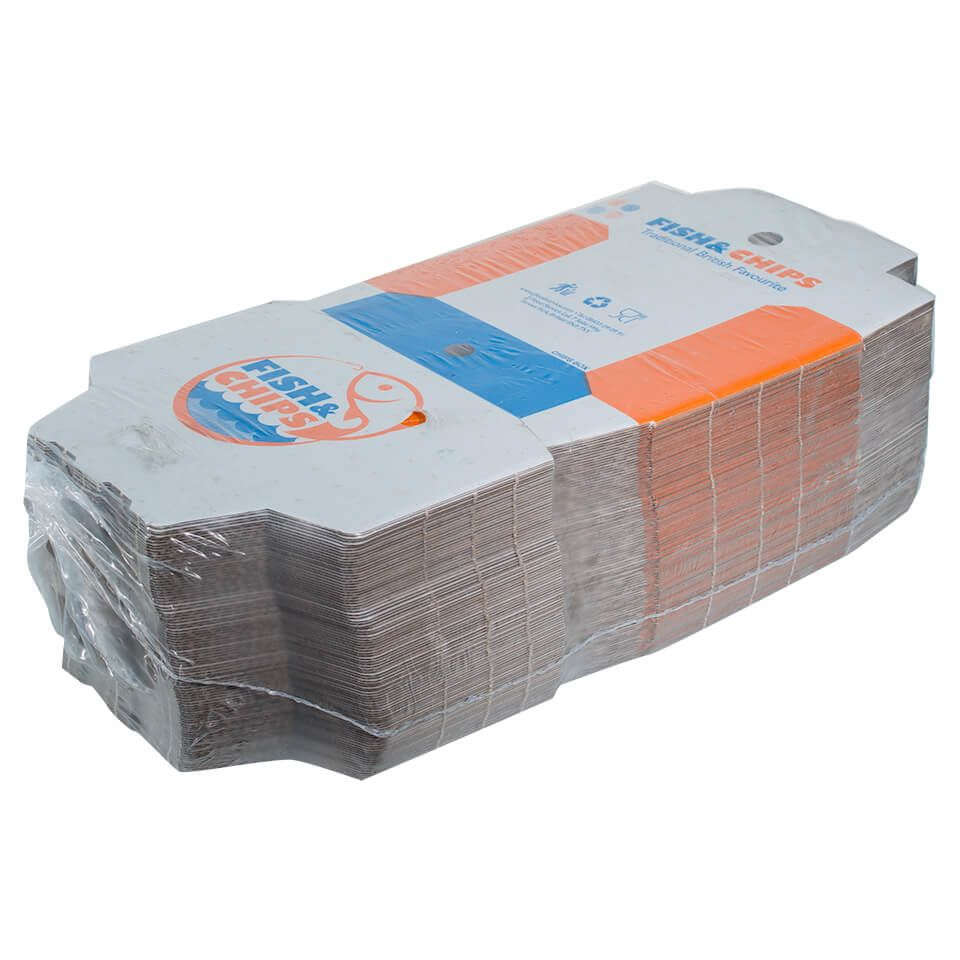 Packaging cardboard fish and chips boxes category for Jj fish and chips